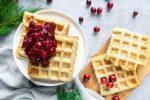 vegan wafels met cranberry