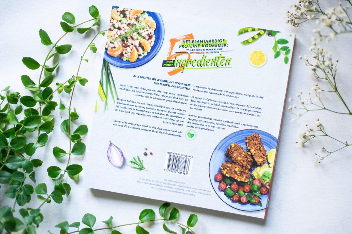 plantaardige proteïne kookboek achterkant