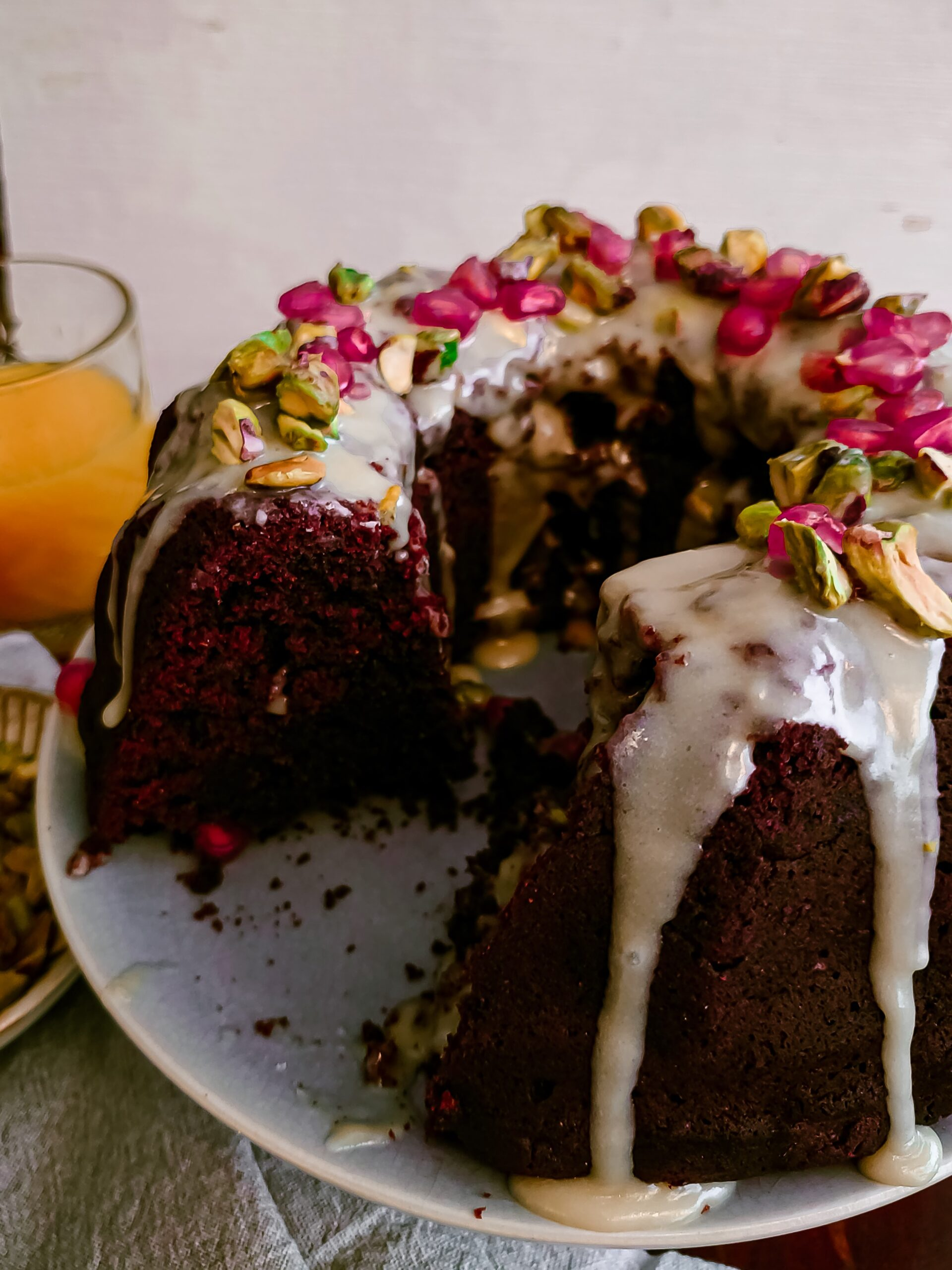 chocolade kardemom cake