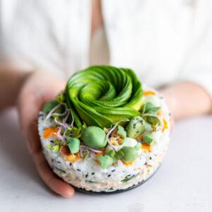 vegan sushi taart