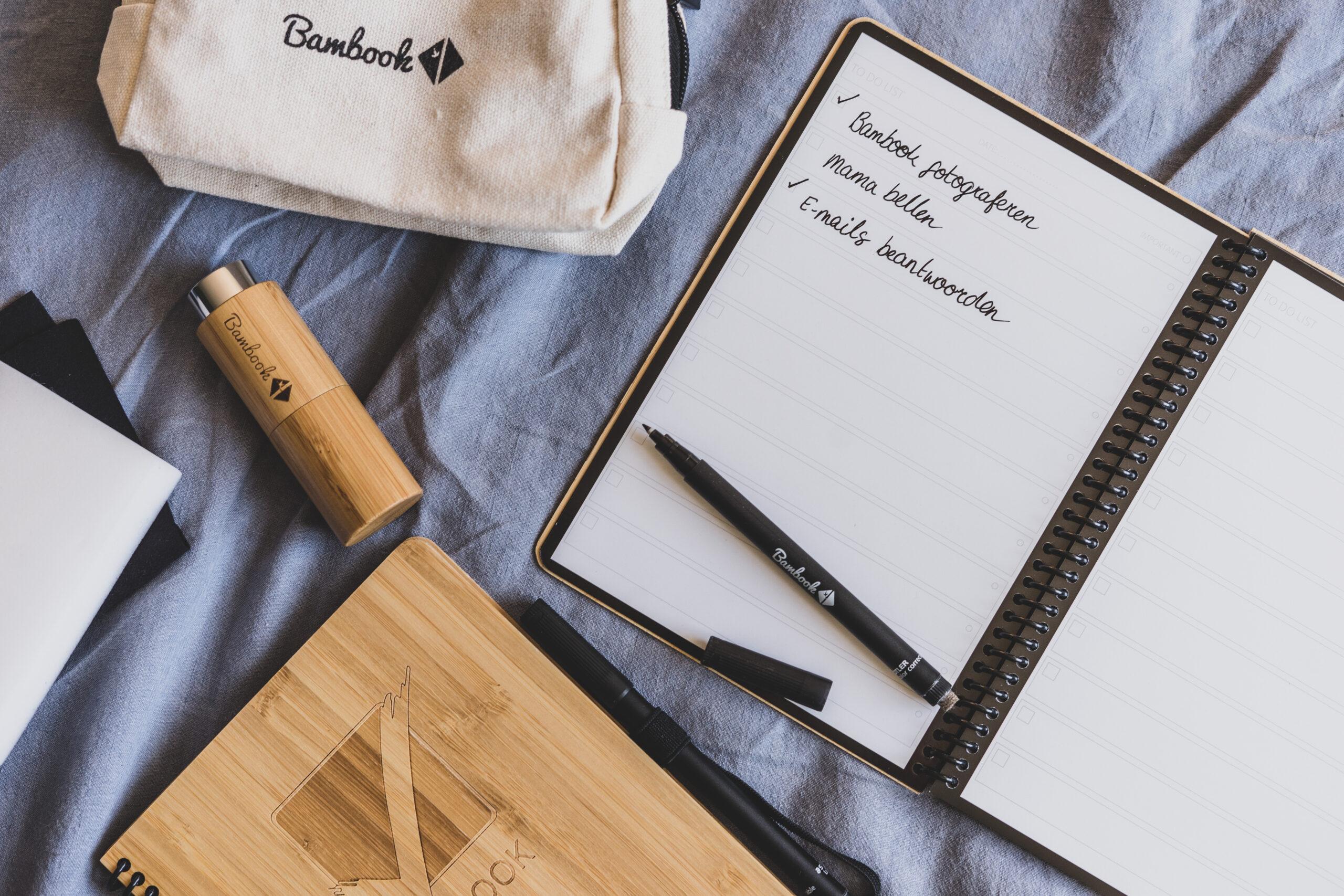 uitwisbaar notitieboekje van Bambook