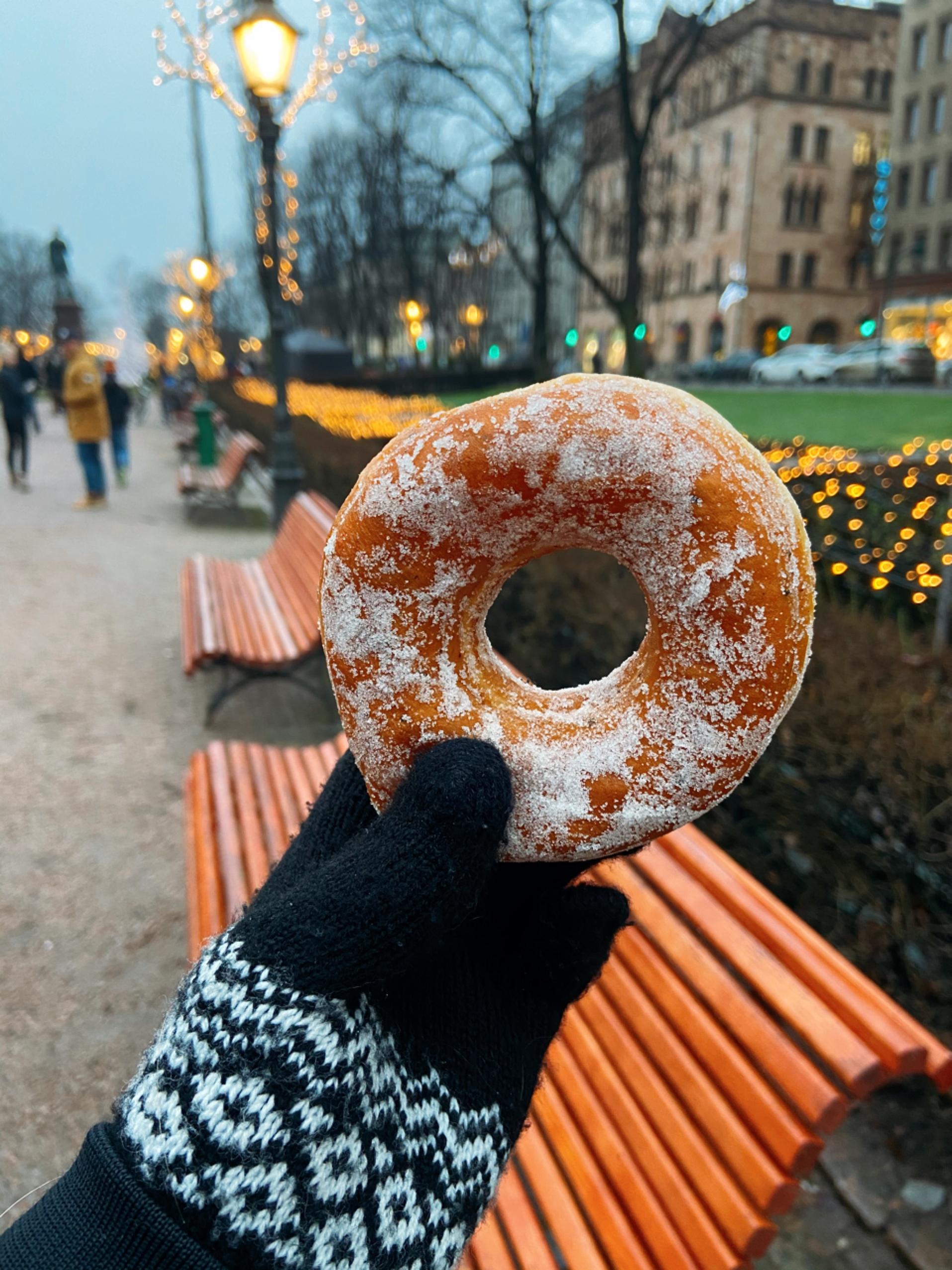 Vegan donut van de Lidl