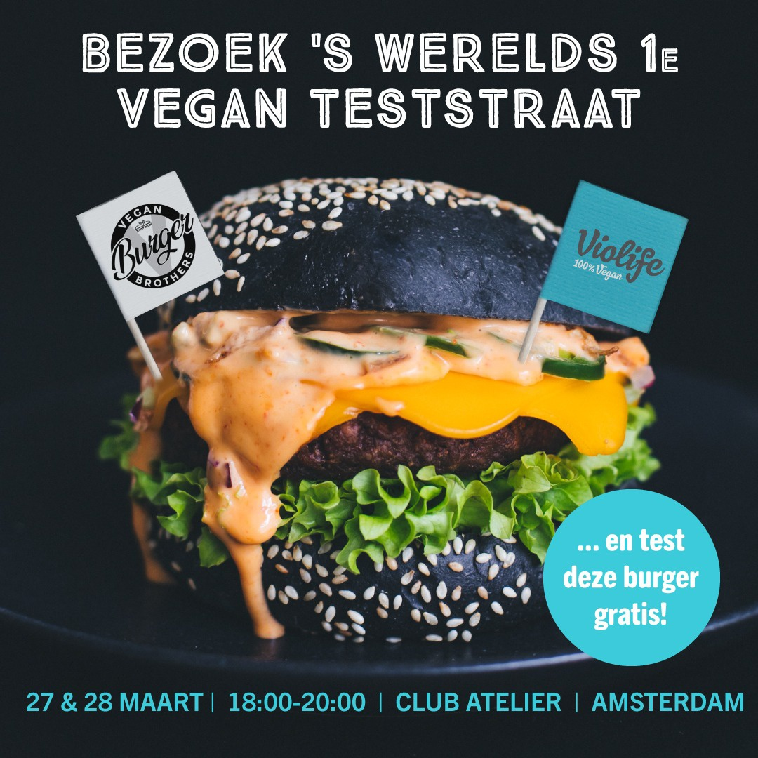 aankondiging gratis vegan burgers