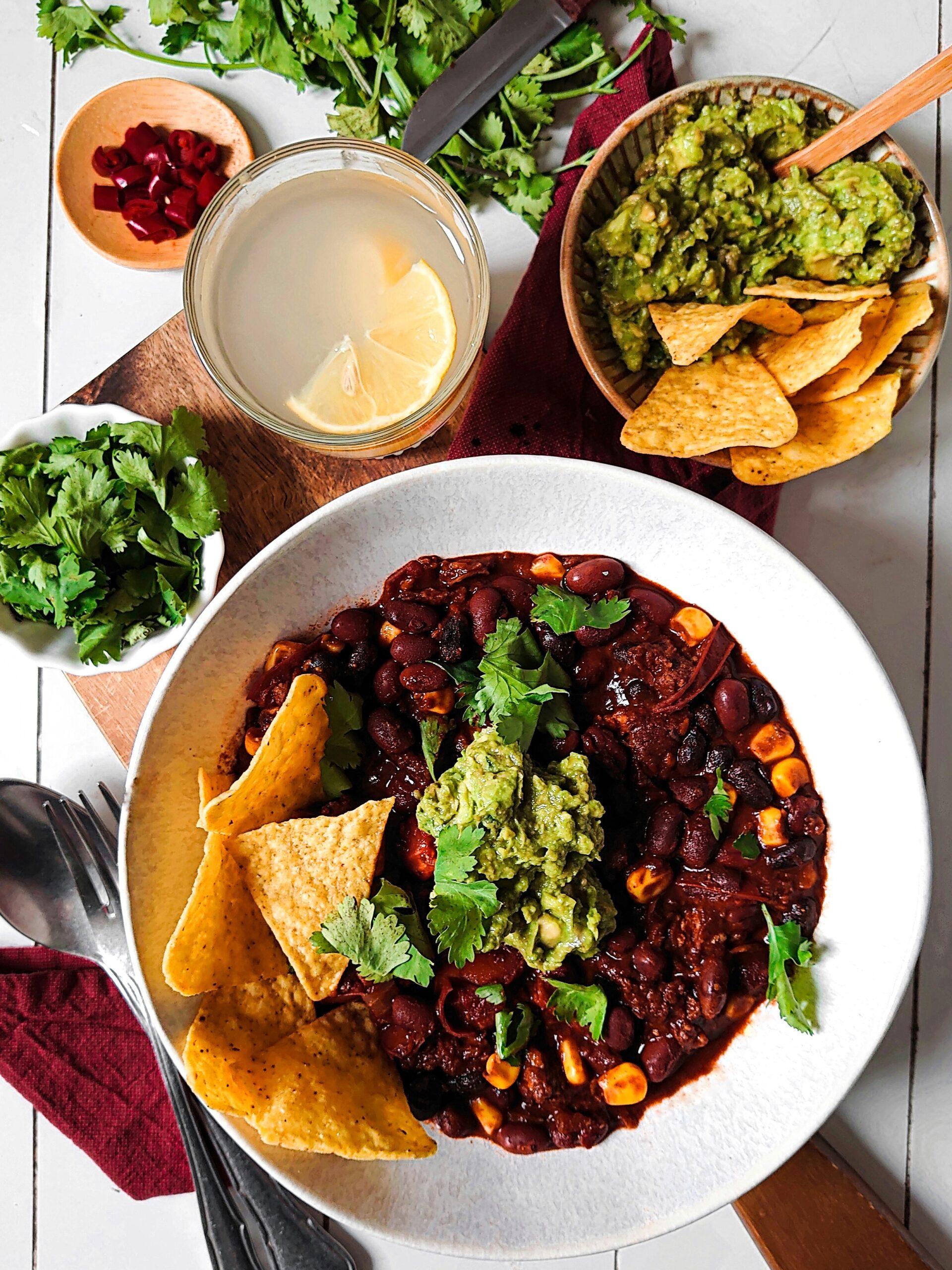 vegan chorizo chili