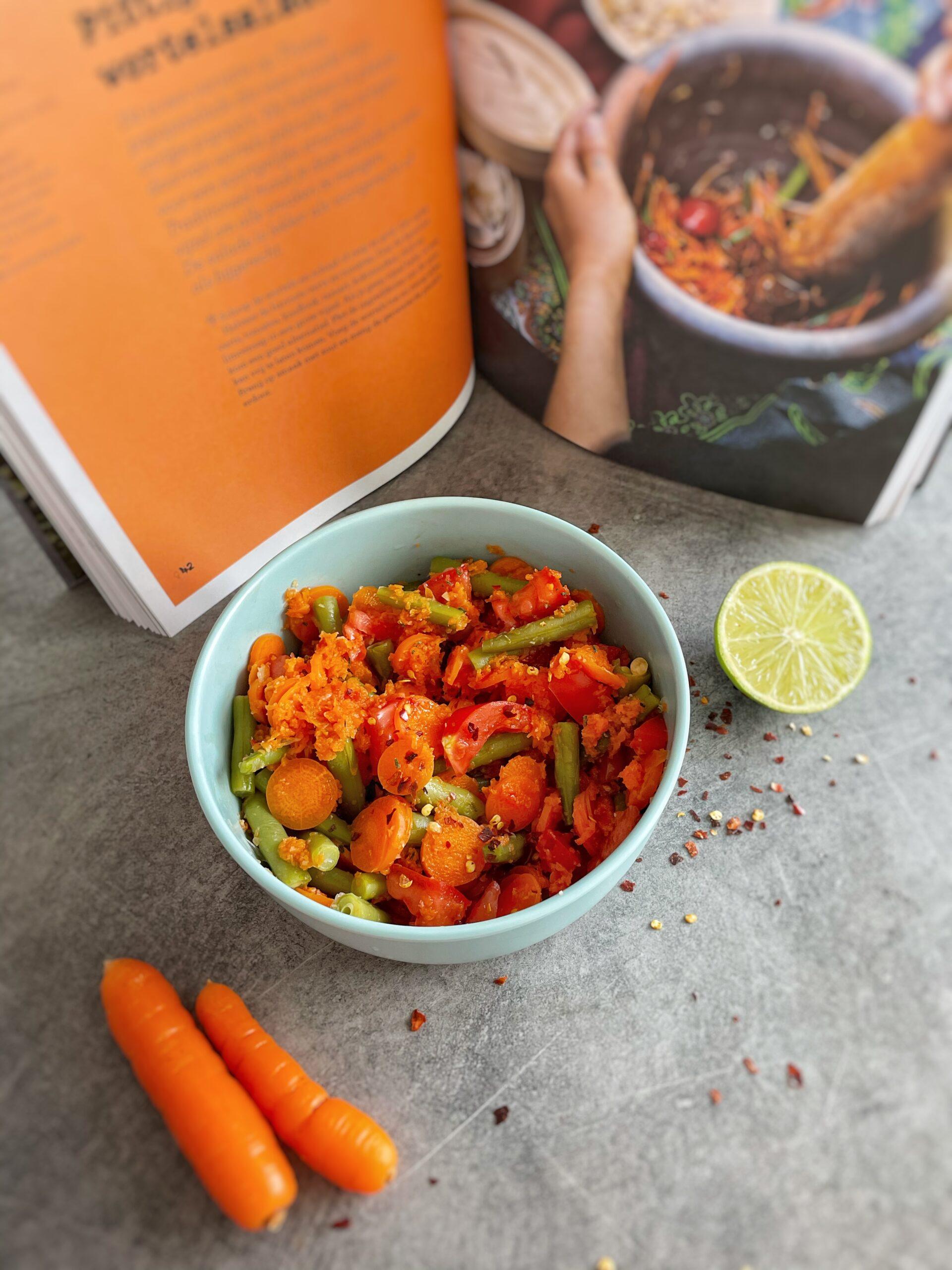 De wortelsalade uit Vegan Street Food
