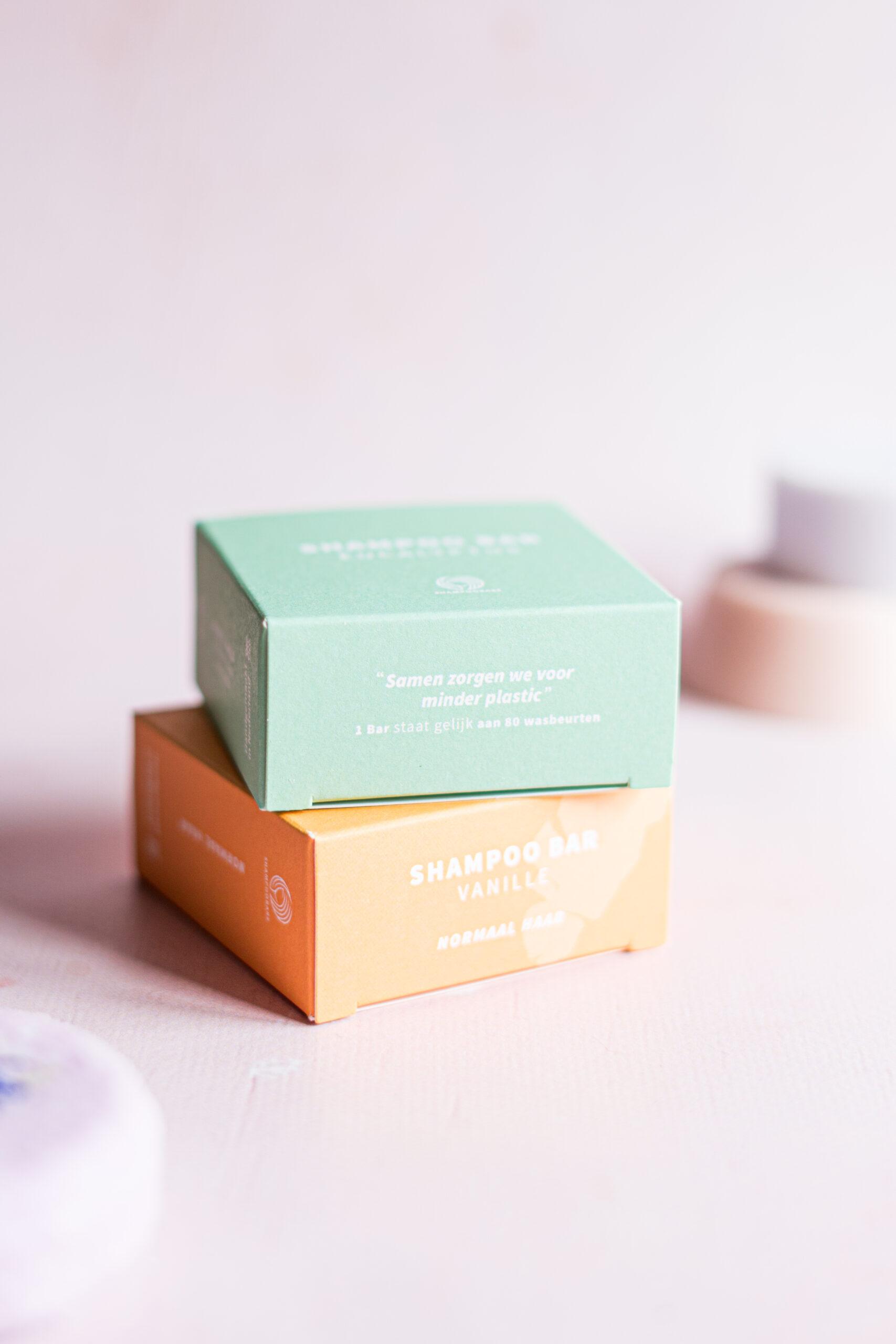 De verpakkingen van Shampoo Bars
