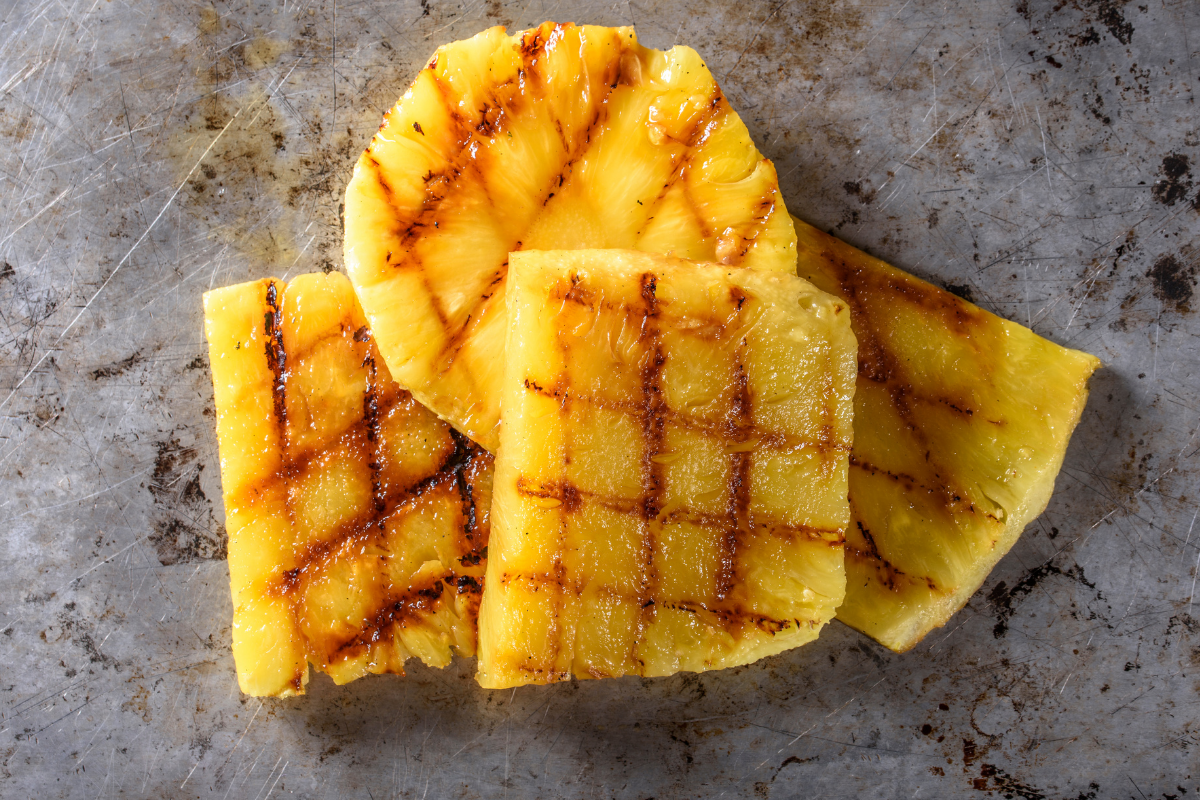 gegrilde bbq ananas