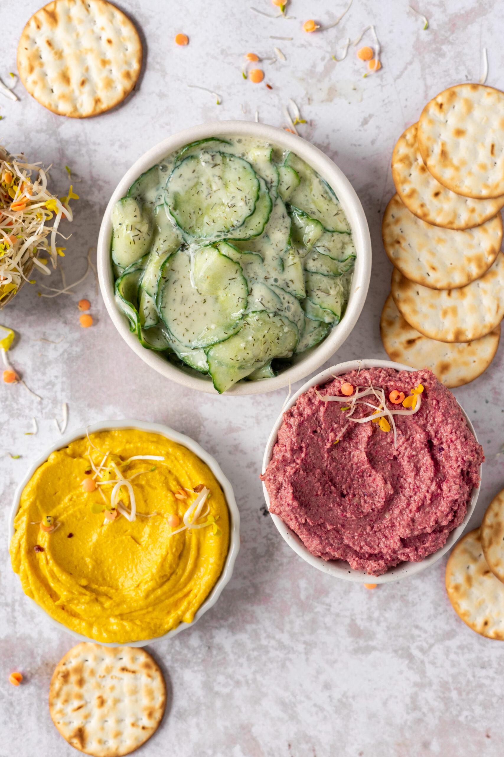 Vegan komkommersalade